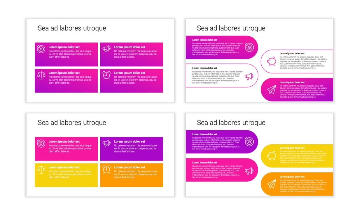 Circles PPT Template - Professional - Pink - Purple - Bright - Business - Professional Slide13