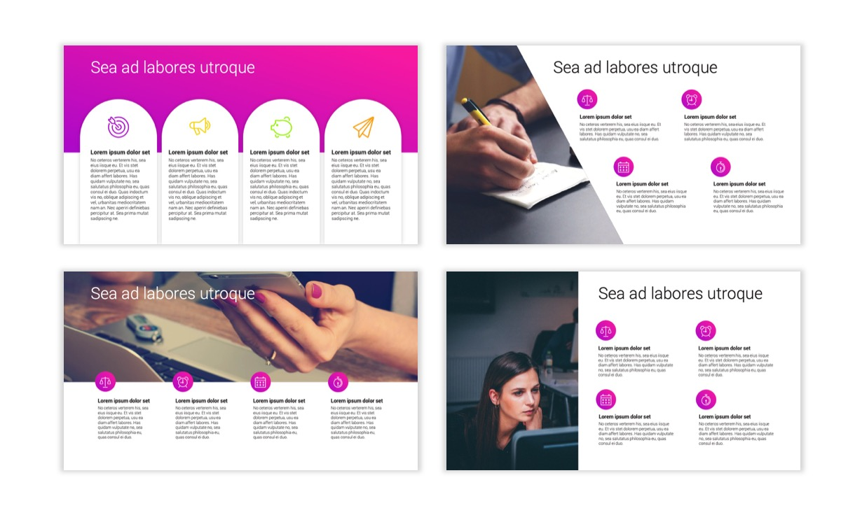 Circles PPT Template - Professional - Pink - Purple - Bright - Business - Professional Slide15