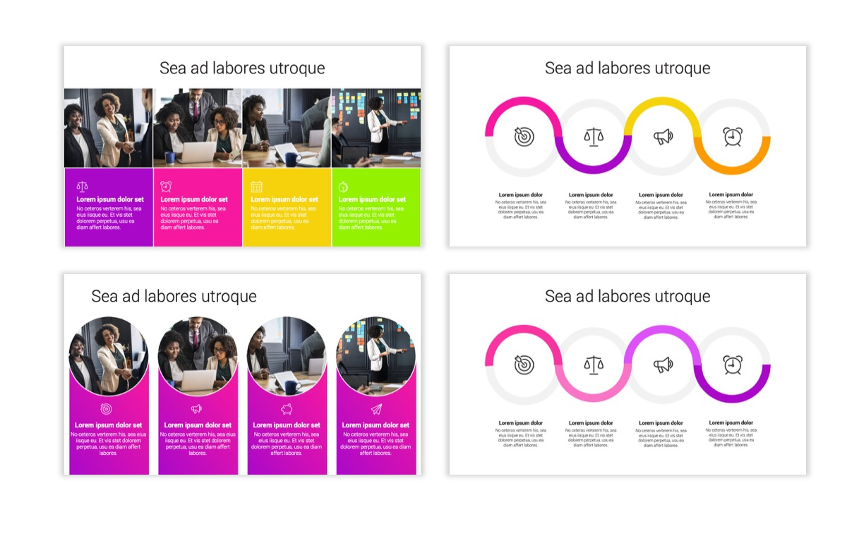 Circles PPT Template - Professional - Pink - Purple - Bright - Business - Professional Slide16
