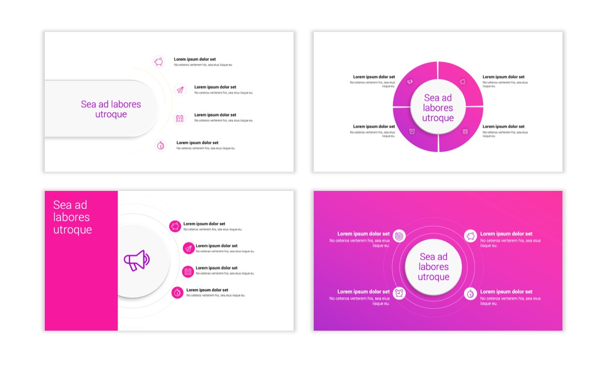 Circles PPT Template - Professional - Pink - Purple - Bright - Business - Professional Slide17