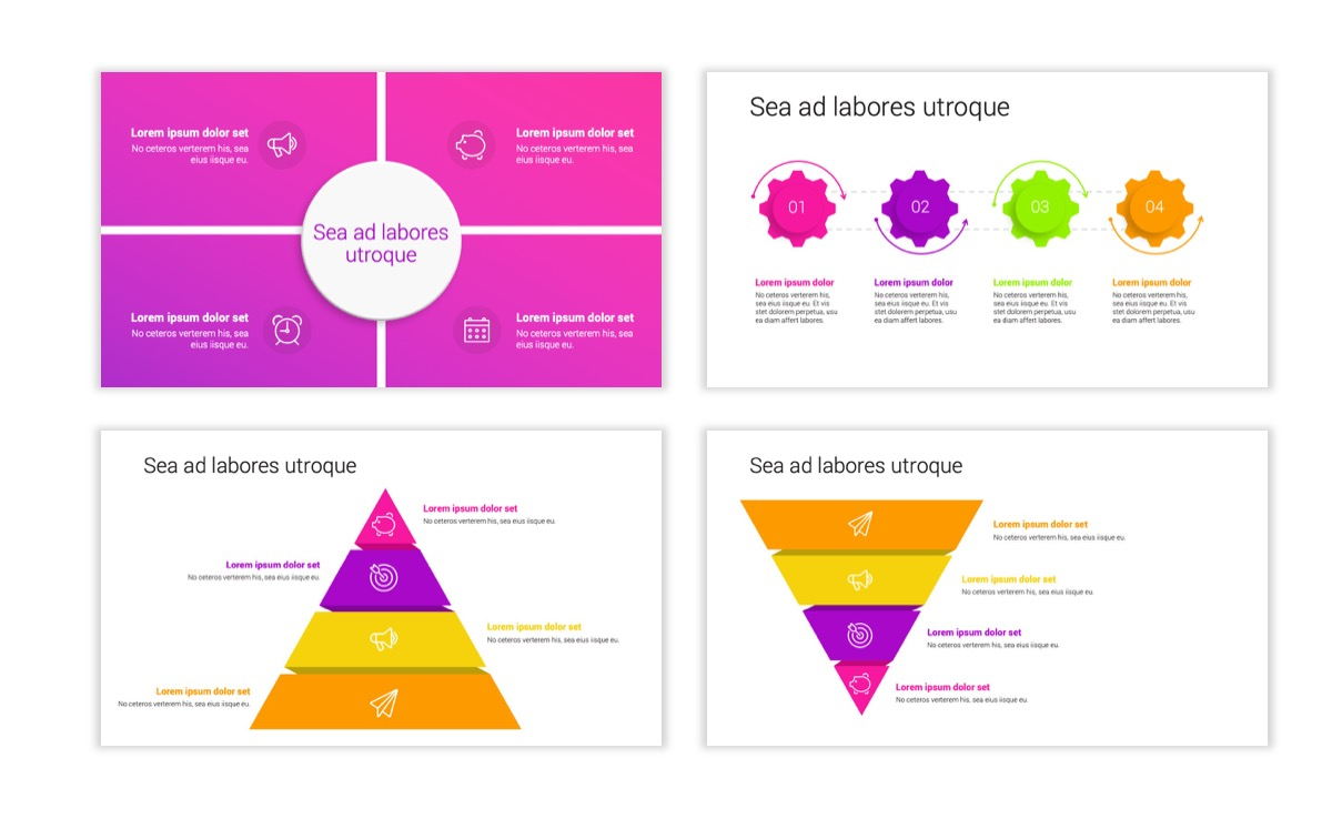Circles PPT Template - Professional - Pink - Purple - Bright - Business - Professional Slide18