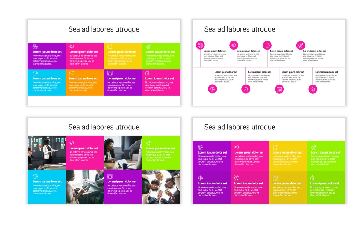Circles PPT Template - Professional - Pink - Purple - Bright - Business - Professional Slide20