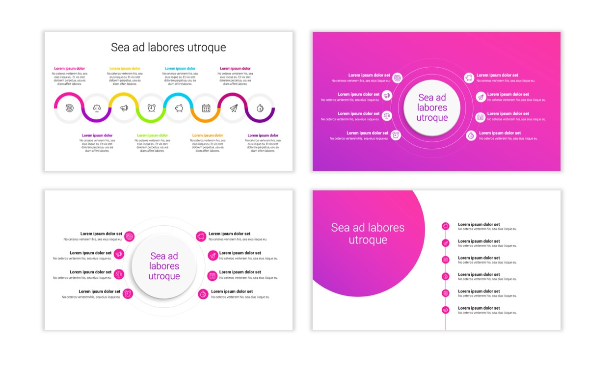 Circles PPT Template - Professional - Pink - Purple - Bright - Business - Professional Slide22