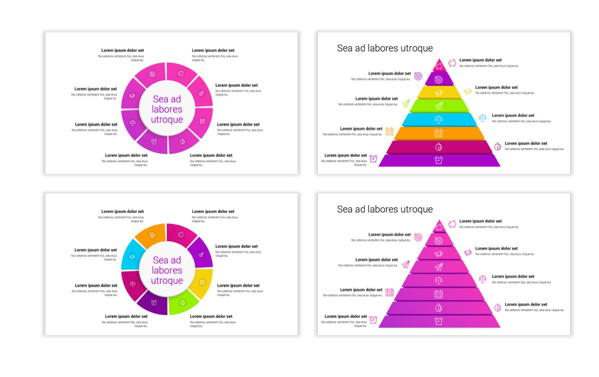 Circles PPT Template - Professional - Pink - Purple - Bright - Business - Professional Slide23