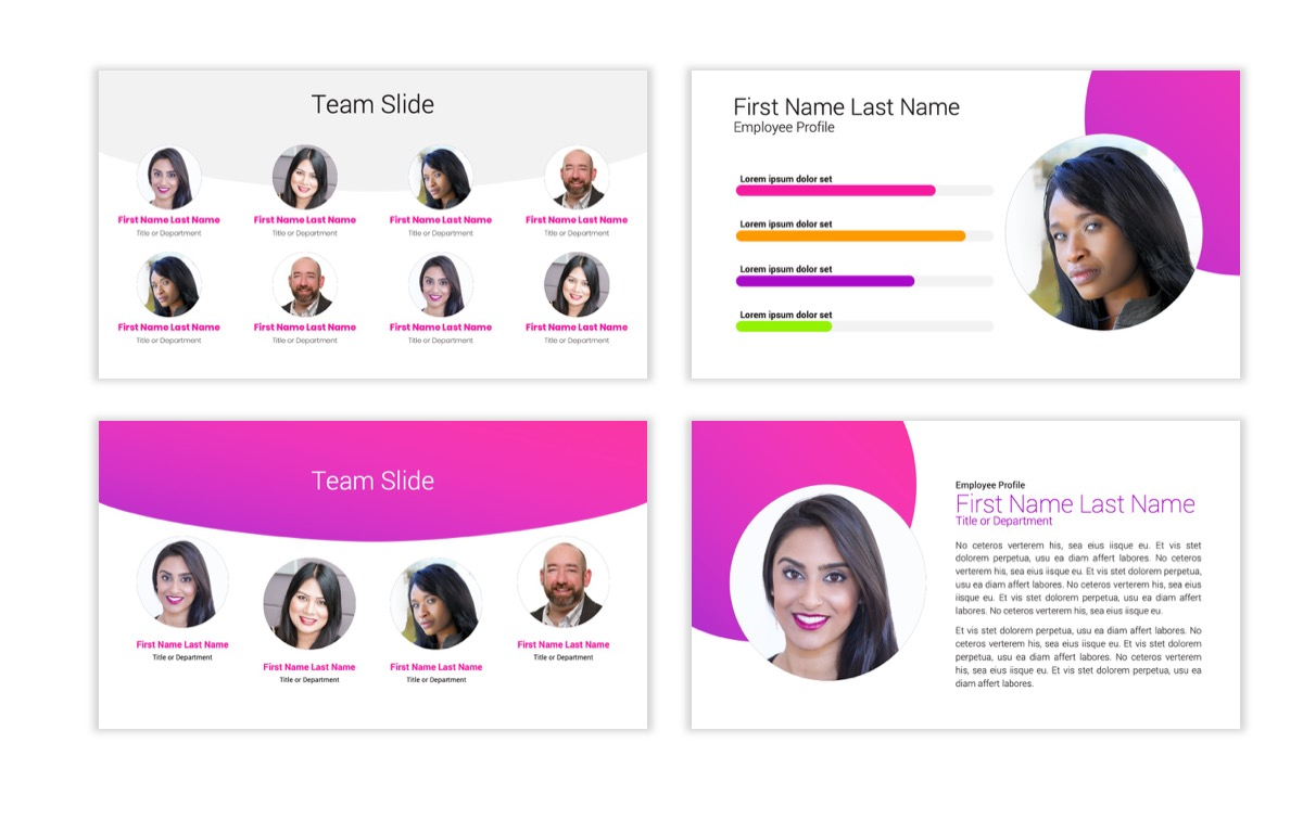 Circles PPT Template - Professional - Pink - Purple - Bright - Business - Professional Slide26