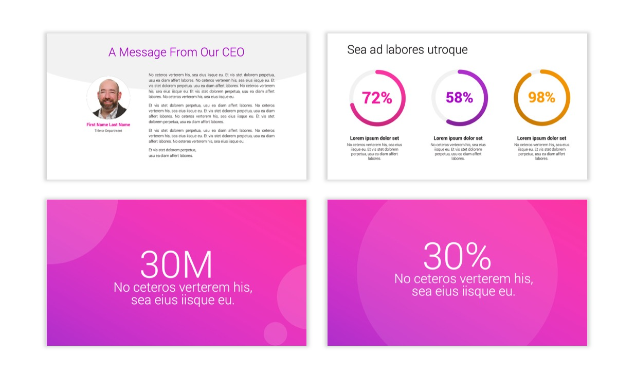 Circles PPT Template - Professional - Pink - Purple - Bright - Business - Professional Slide27