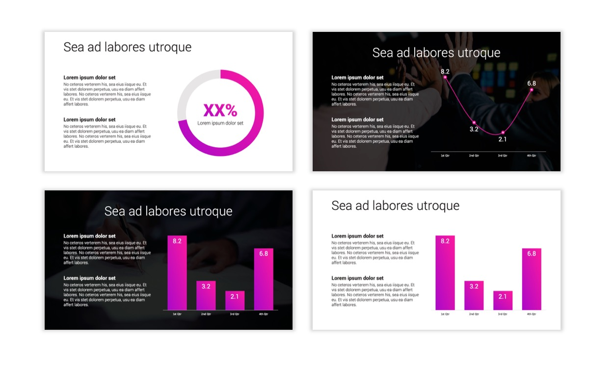 Circles PPT Template - Professional - Pink - Purple - Bright - Business - Professional Slide5