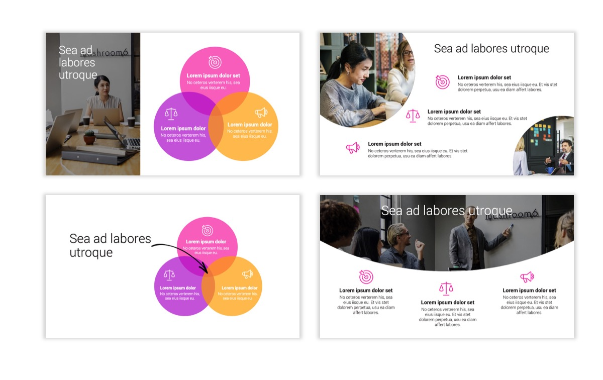 Circles PPT Template - Professional - Pink - Purple - Bright - Business - Professional Slide7