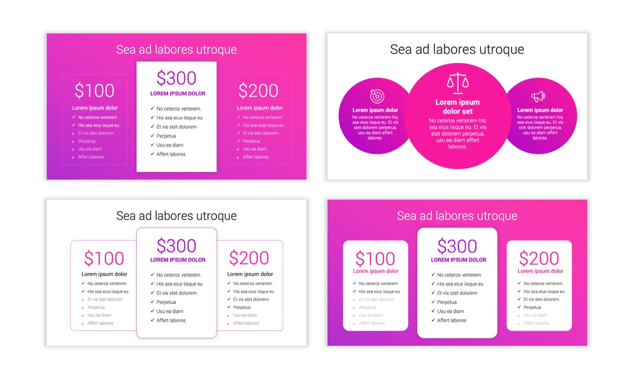 Circles PPT Template - Professional - Pink - Purple - Bright - Business - Professional Slide9