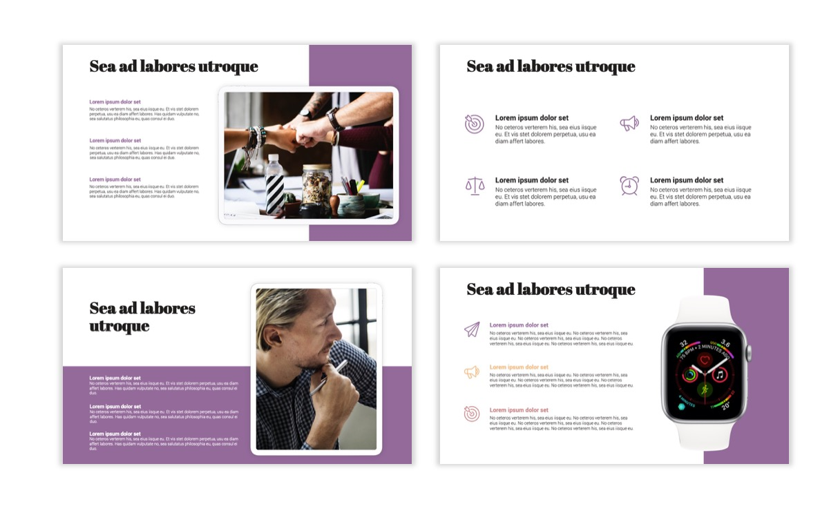 Circles PPT Template - Professional - Pink - Purple - Business - Professional Slide10