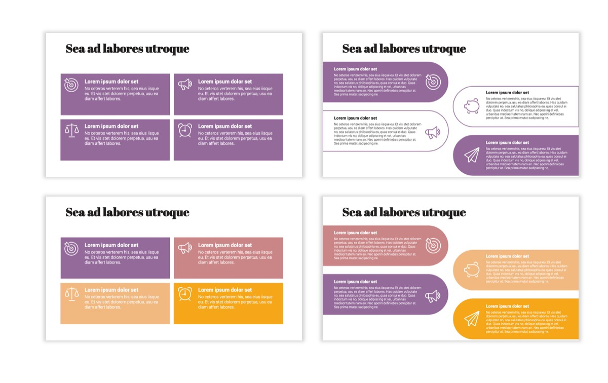 Circles PPT Template - Professional - Pink - Purple - Business - Professional Slide12