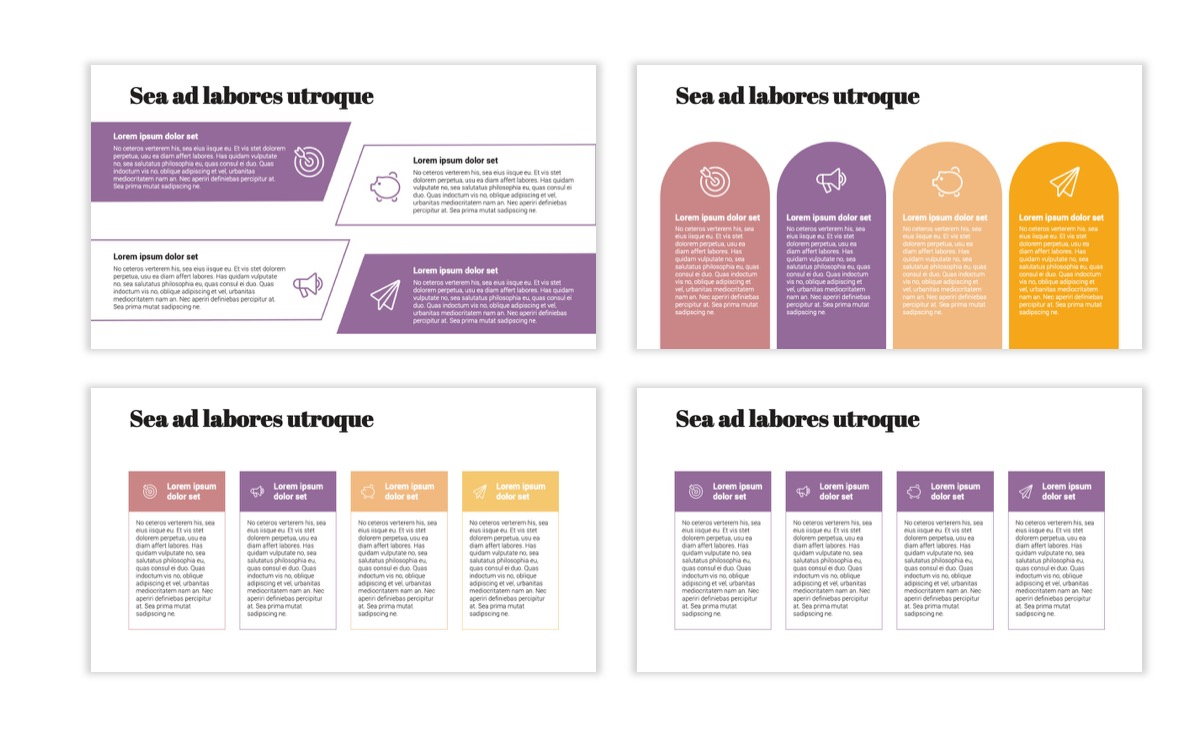 Circles PPT Template - Professional - Pink - Purple - Business - Professional Slide13