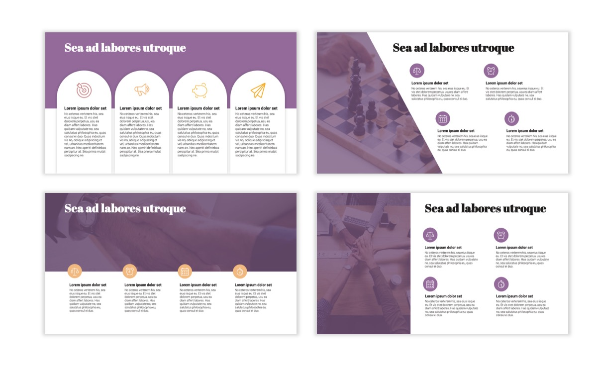 Circles PPT Template - Professional - Pink - Purple - Business - Professional Slide14