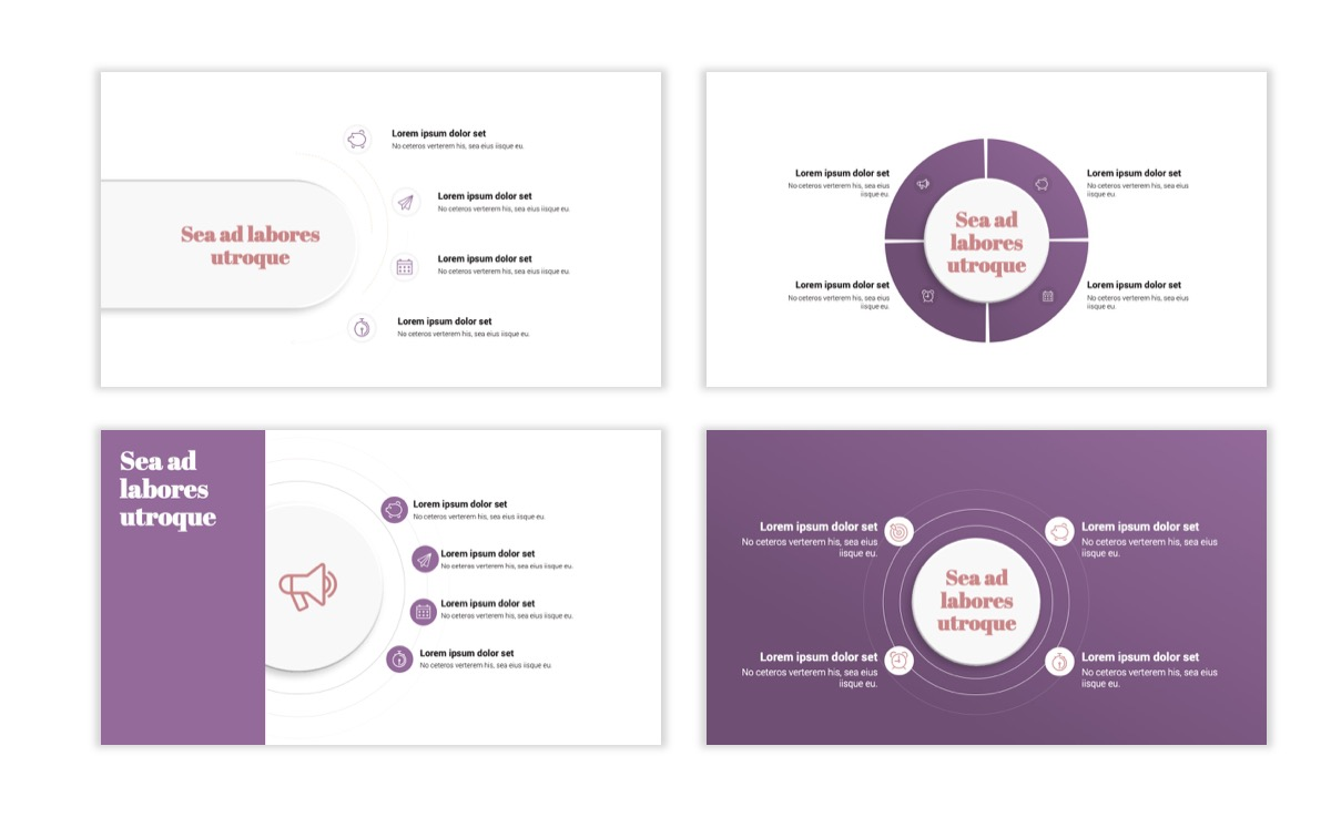 Circles PPT Template - Professional - Pink - Purple - Business - Professional Slide16