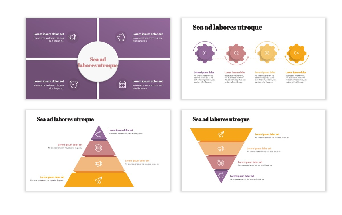 Circles PPT Template - Professional - Pink - Purple - Business - Professional Slide17
