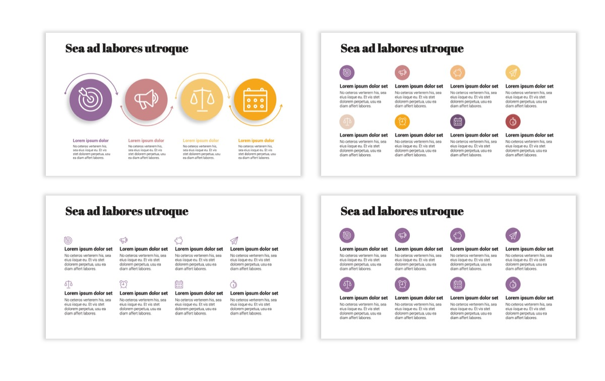 Circles PPT Template - Professional - Pink - Purple - Business - Professional Slide18