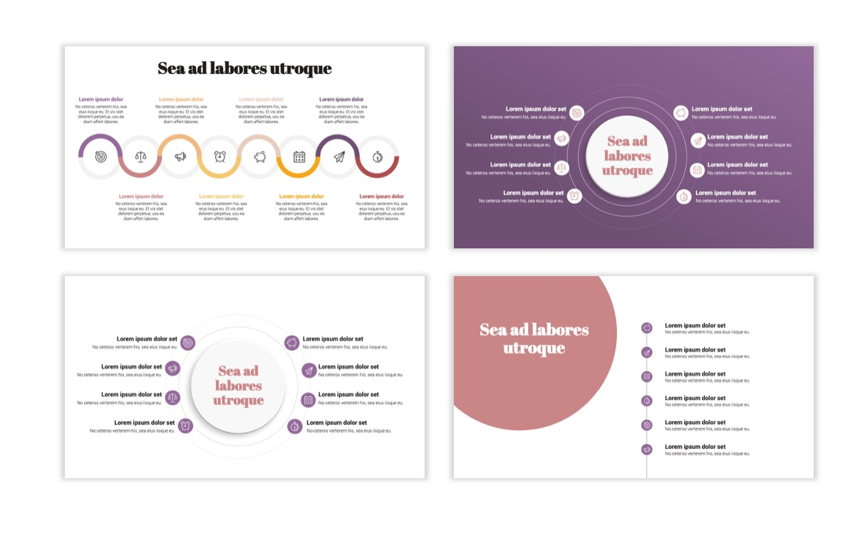 Circles PPT Template - Professional - Pink - Purple - Business - Professional Slide21