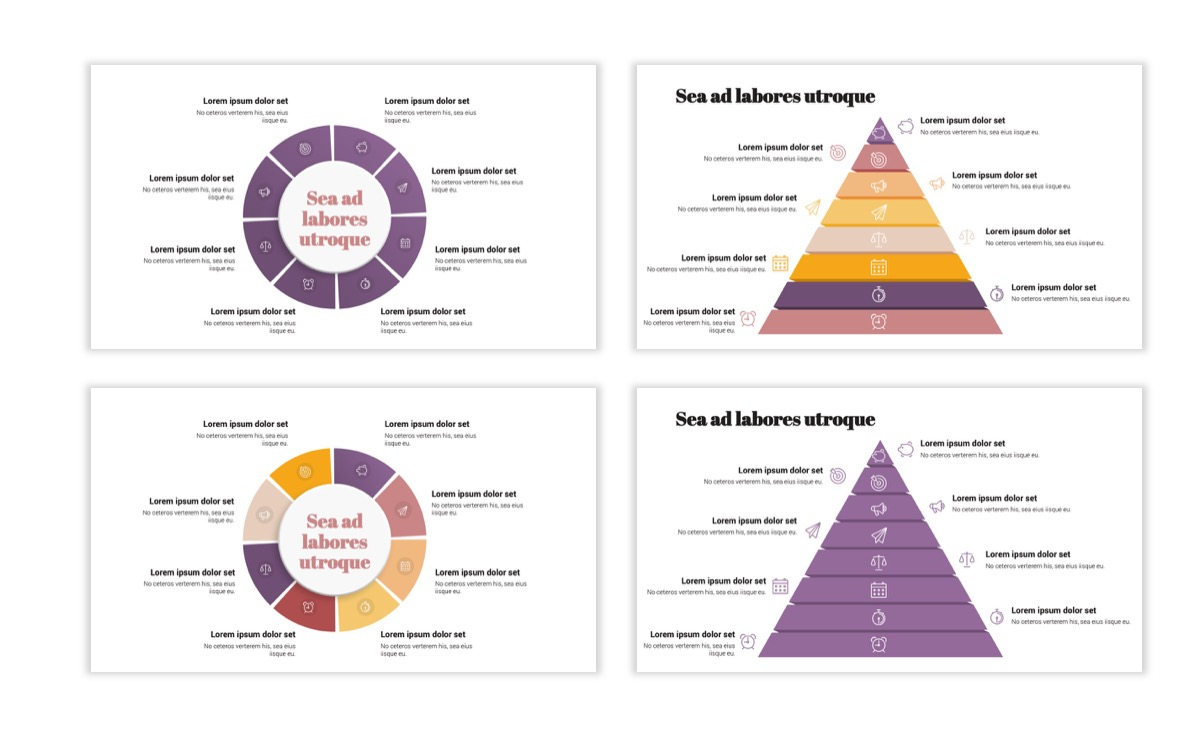 Circles PPT Template - Professional - Pink - Purple - Business - Professional Slide22
