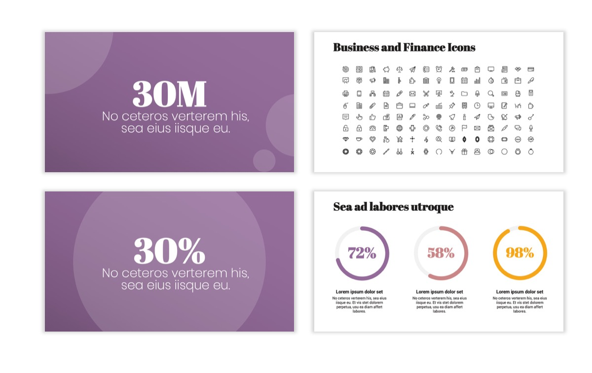 Circles PPT Template - Professional - Pink - Purple - Business - Professional Slide26