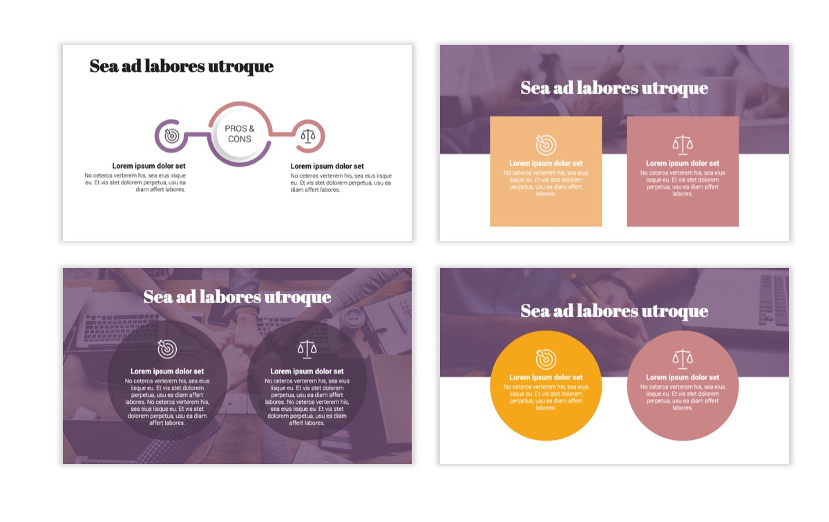 Circles PPT Template - Professional - Pink - Purple - Business - Professional Slide3