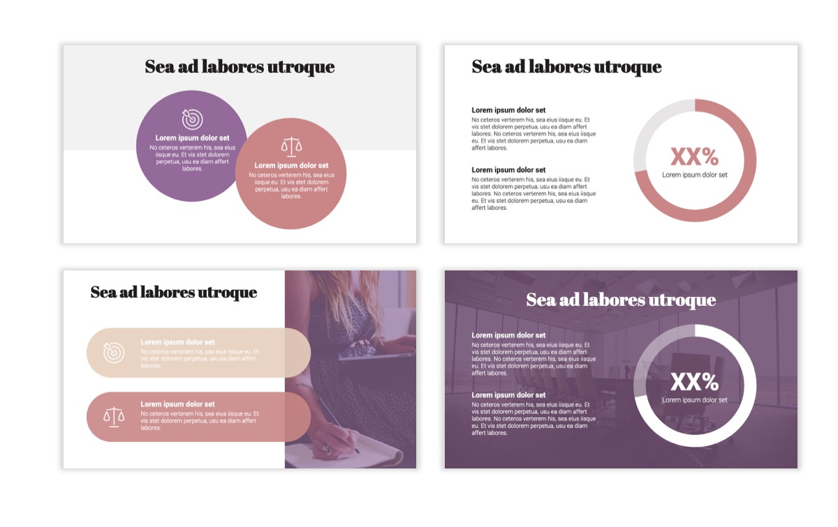 Circles PPT Template - Professional - Pink - Purple - Business - Professional Slide4