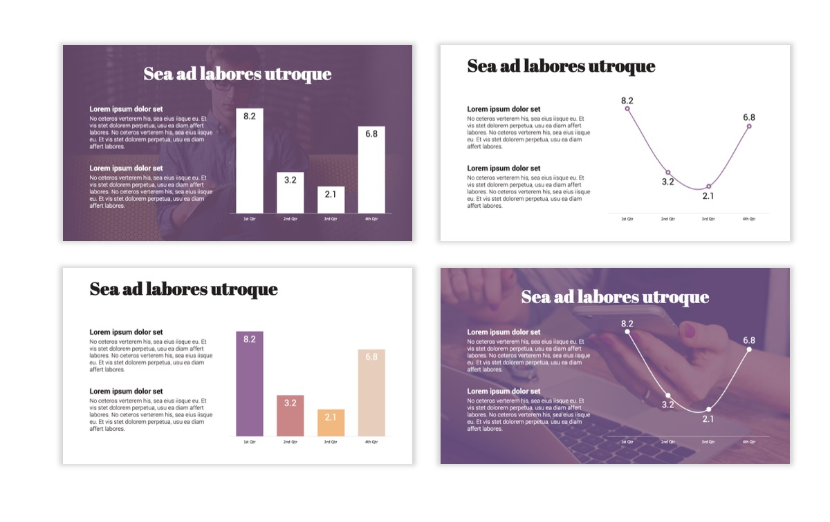 Circles PPT Template - Professional - Pink - Purple - Business - Professional Slide5