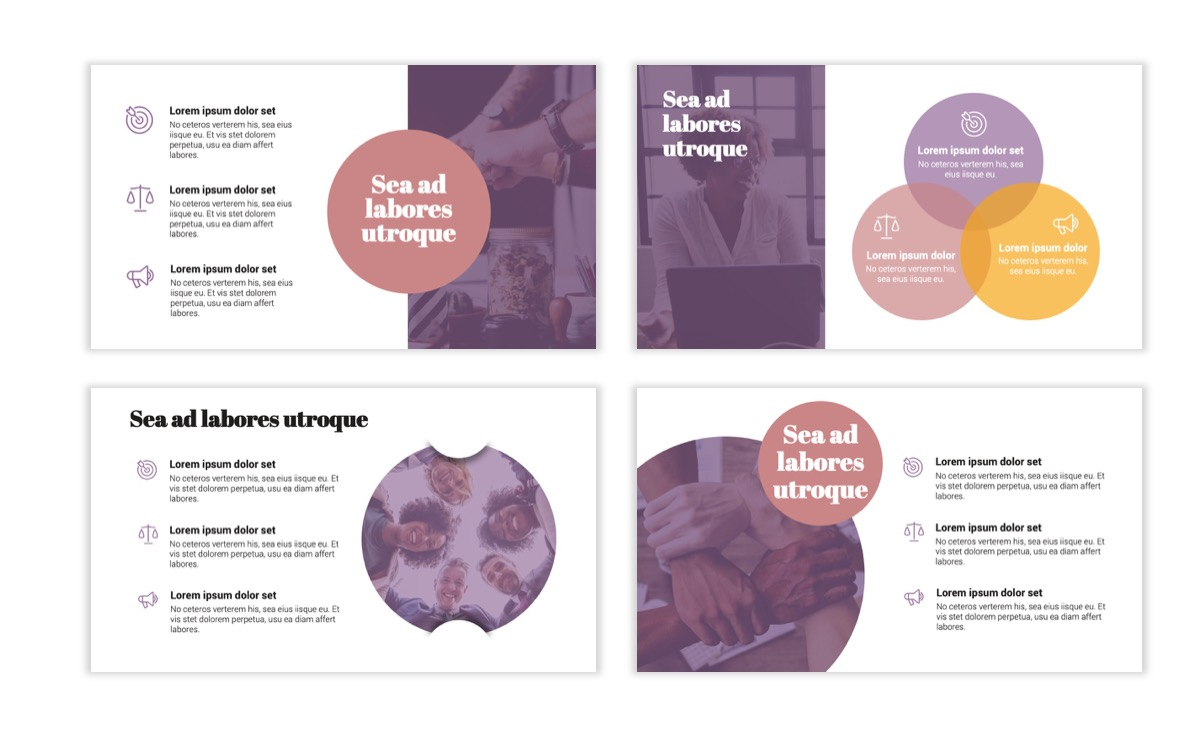Circles PPT Template - Professional - Pink - Purple - Business - Professional Slide6