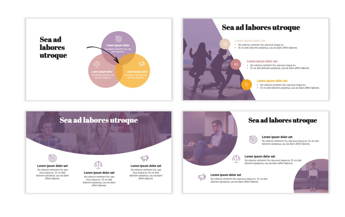Circles PPT Template - Professional - Pink - Purple - Business - Professional Slide7