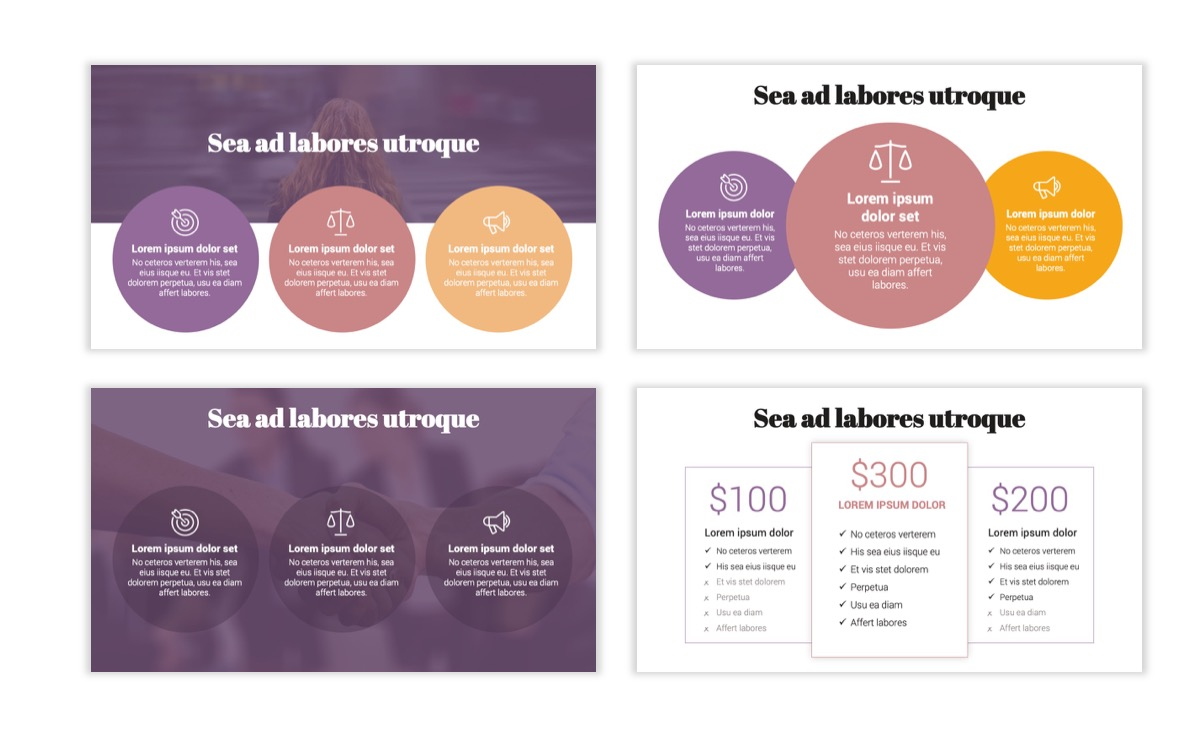 Circles PPT Template - Professional - Pink - Purple - Business - Professional Slide8