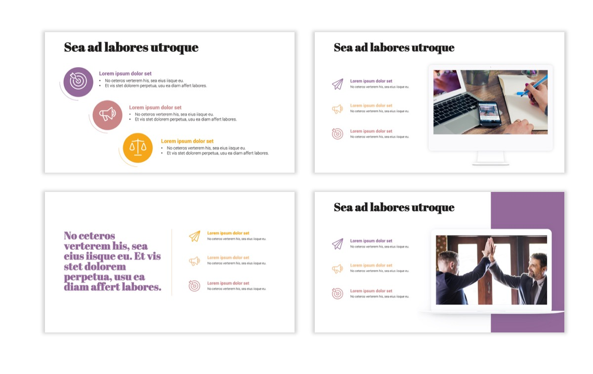 Circles PPT Template - Professional - Pink - Purple - Business - Professional Slide9