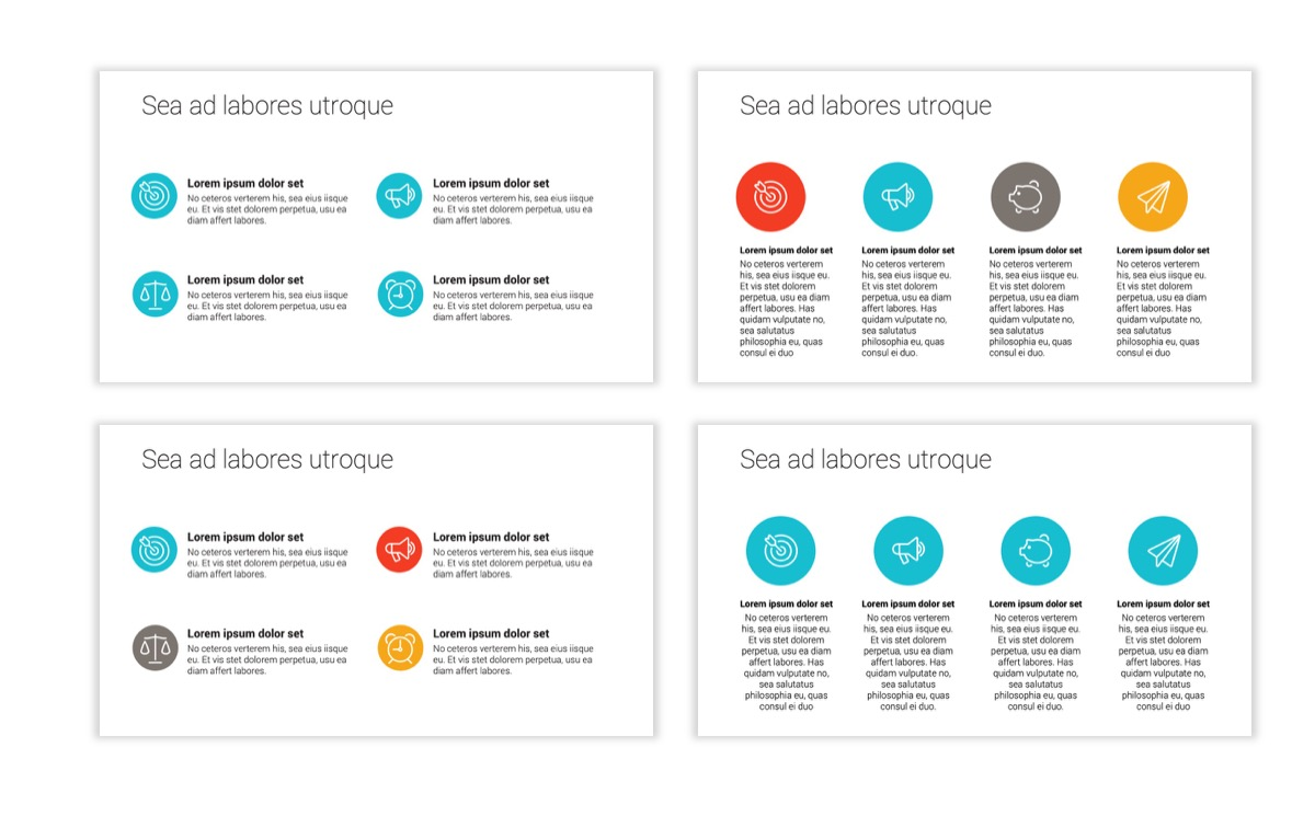 Circles PPT Template - Professional - Teal - Orange - Business - Professional Slide11