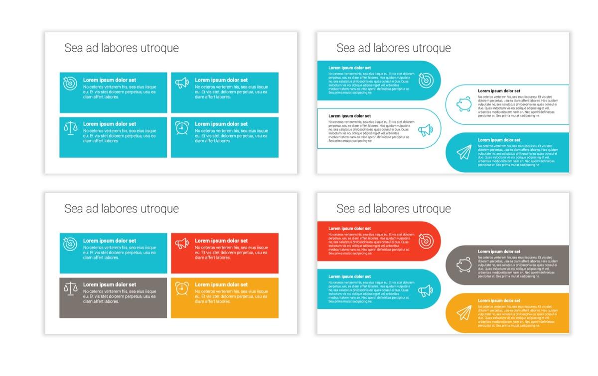 Circles PPT Template - Professional - Teal - Orange - Business - Professional Slide12