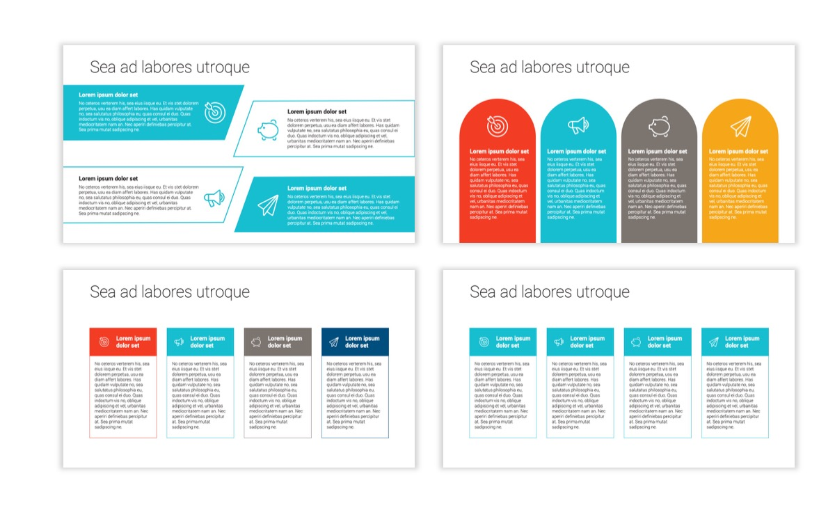 Circles PPT Template - Professional - Teal - Orange - Business - Professional Slide13