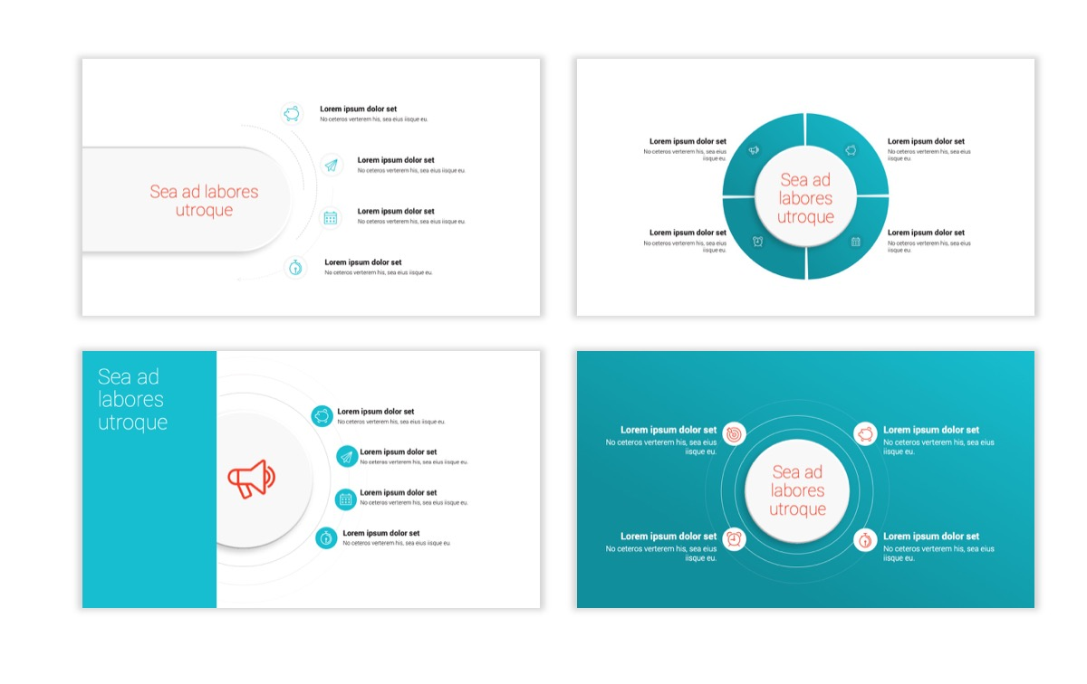 Circles PPT Template - Professional - Teal - Orange - Business - Professional Slide16