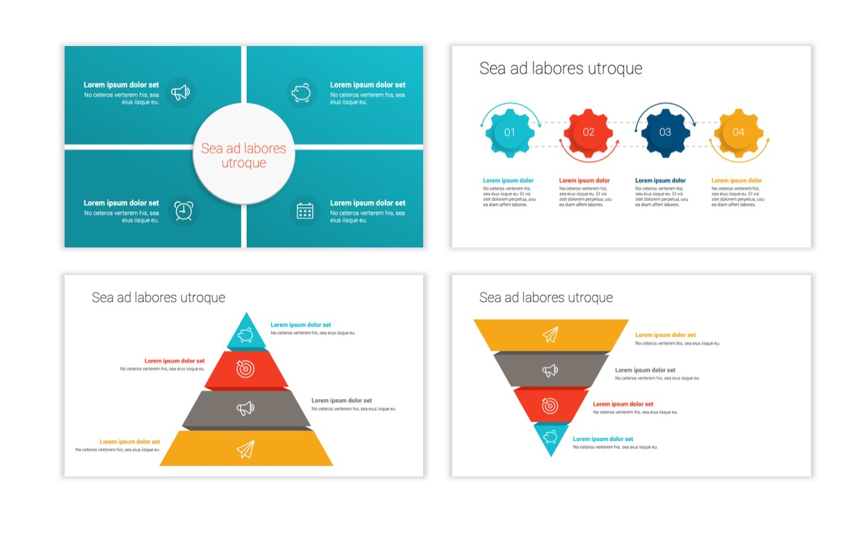 Circles PPT Template - Professional - Teal - Orange - Business - Professional Slide17
