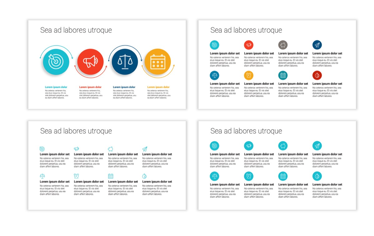 Circles PPT Template - Professional - Teal - Orange - Business - Professional Slide18