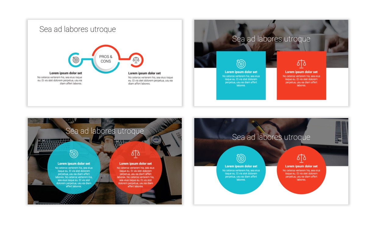 Circles PPT Template - Professional - Teal - Orange - Business - Professional Slide3
