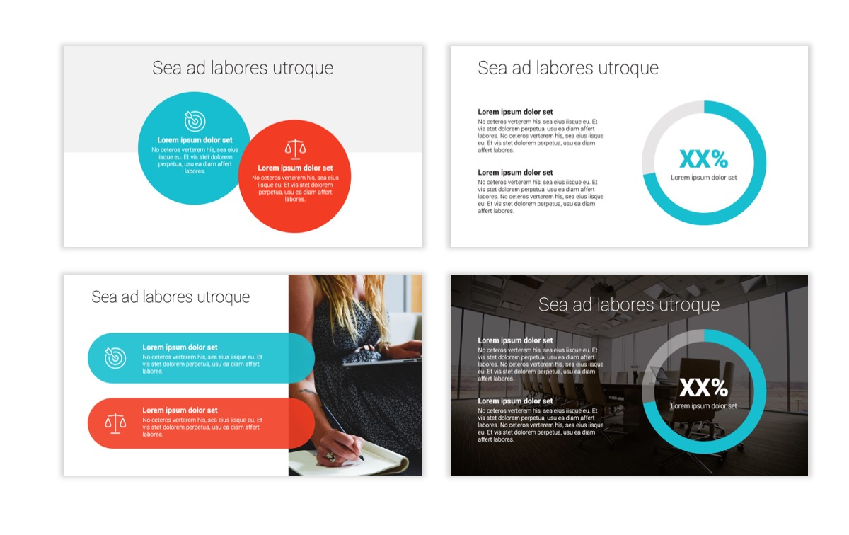 Circles PPT Template - Professional - Teal - Orange - Business - Professional Slide4