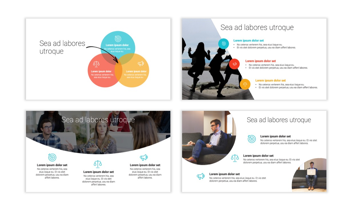 Circles PPT Template - Professional - Teal - Orange - Business - Professional Slide7