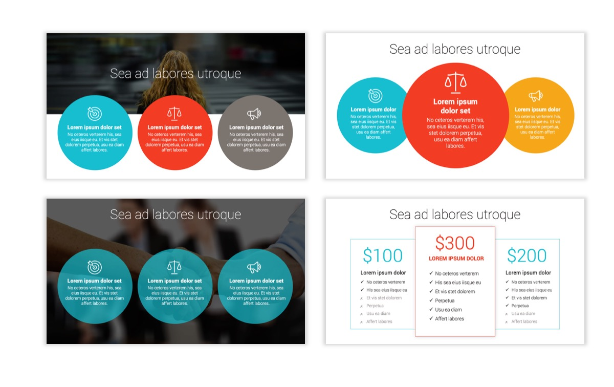 Circles PPT Template - Professional - Teal - Orange - Business - Professional Slide8