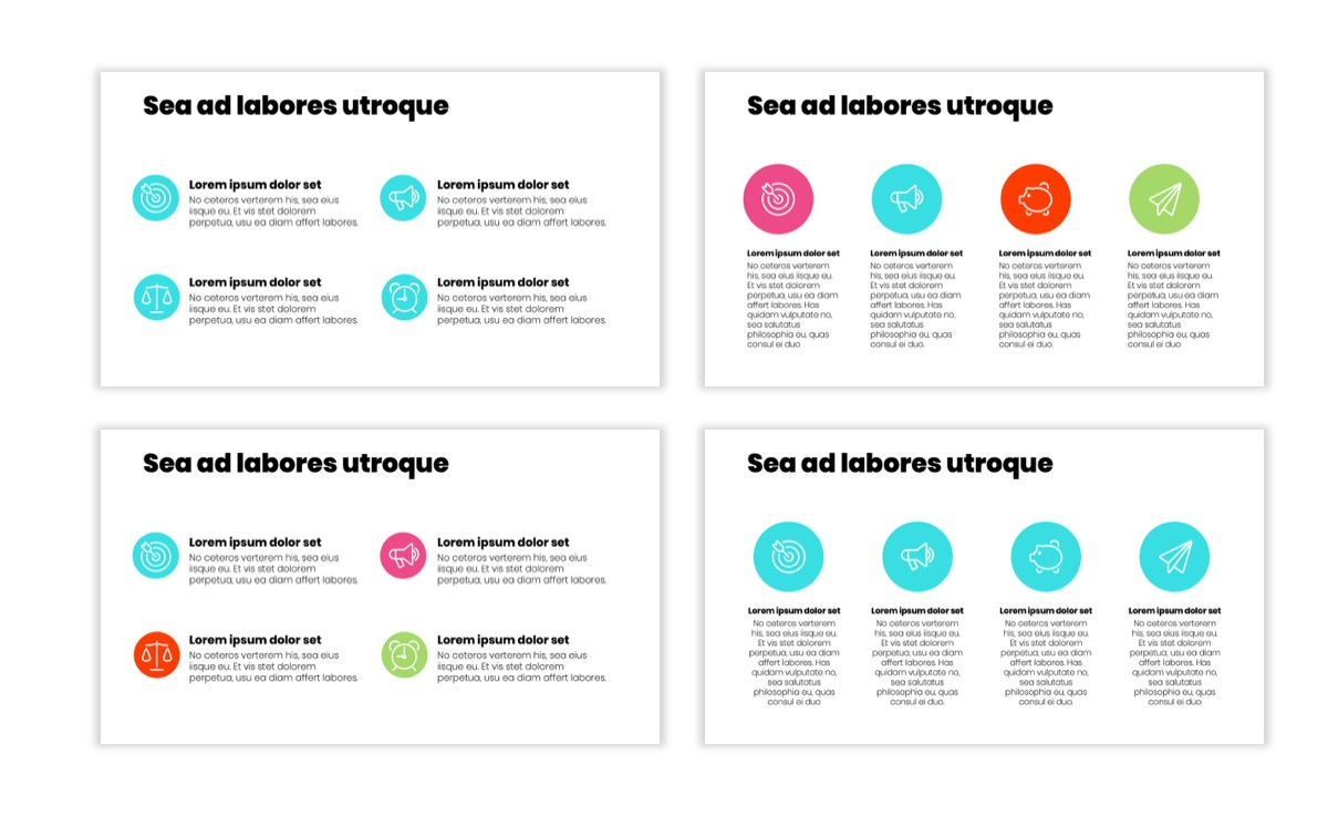 Circles PPT Template - Professional - Teal - Pink - Bright - Business - Professional Slide11