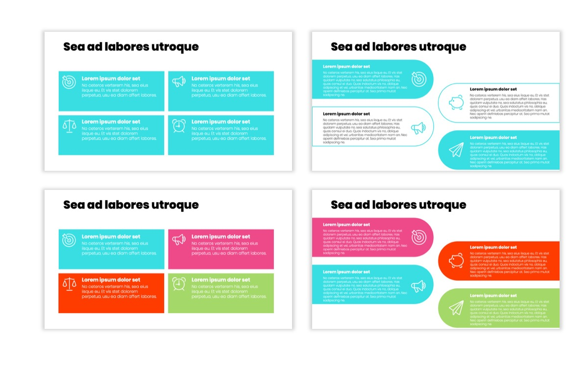Circles PPT Template - Professional - Teal - Pink - Bright - Business - Professional Slide12