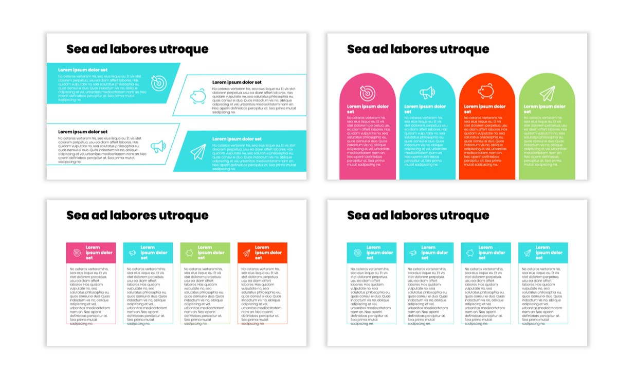 Circles PPT Template - Professional - Teal - Pink - Bright - Business - Professional Slide13