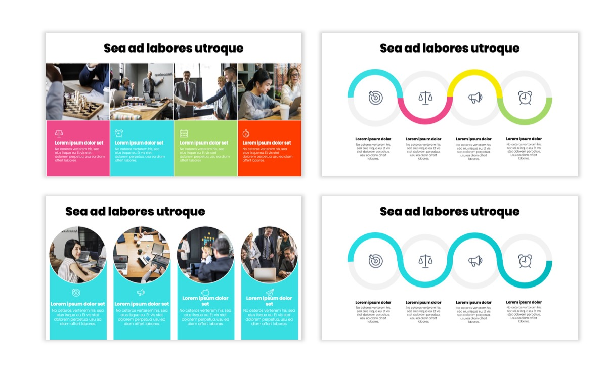Circles PPT Template - Professional - Teal - Pink - Bright - Business - Professional Slide15