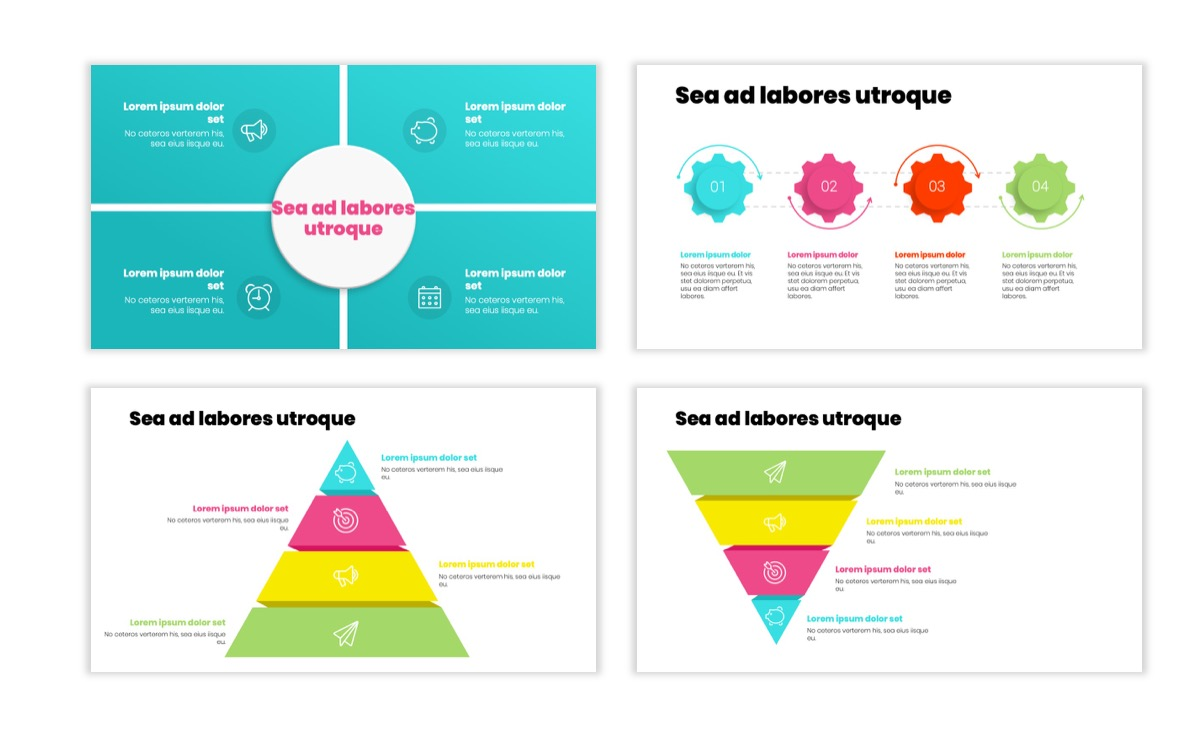 Circles PPT Template - Professional - Teal - Pink - Bright - Business - Professional Slide17