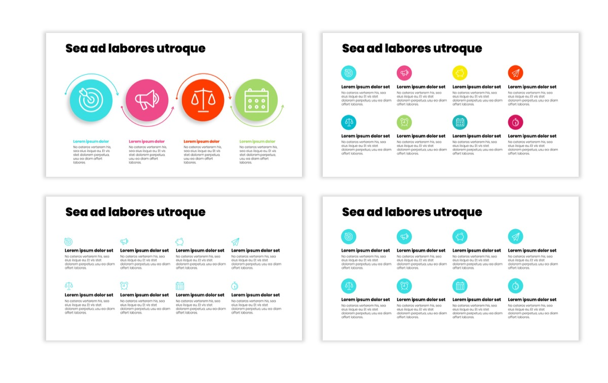 Circles PPT Template - Professional - Teal - Pink - Bright - Business - Professional Slide18