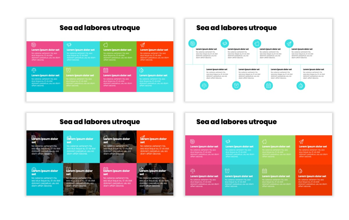 Circles PPT Template - Professional - Teal - Pink - Bright - Business - Professional Slide19