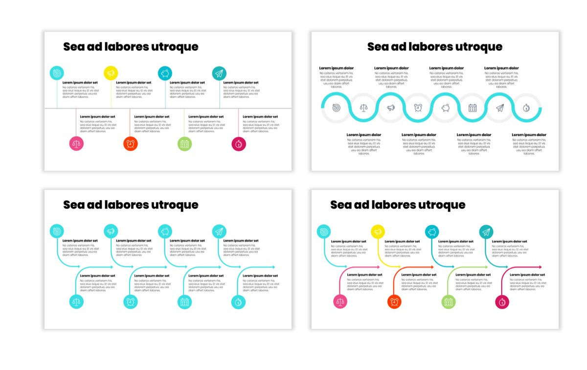 Circles PPT Template - Professional - Teal - Pink - Bright - Business - Professional Slide20