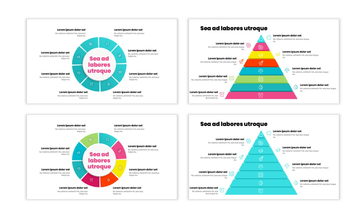 Circles PPT Template - Professional - Teal - Pink - Bright - Business - Professional Slide22