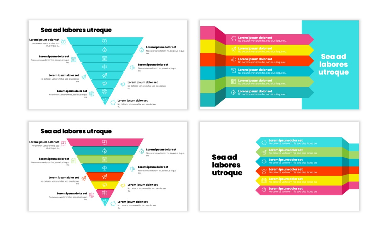 Circles PPT Template - Professional - Teal - Pink - Bright - Business - Professional Slide23